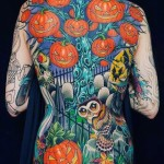 Full Back Halloween Tattoo