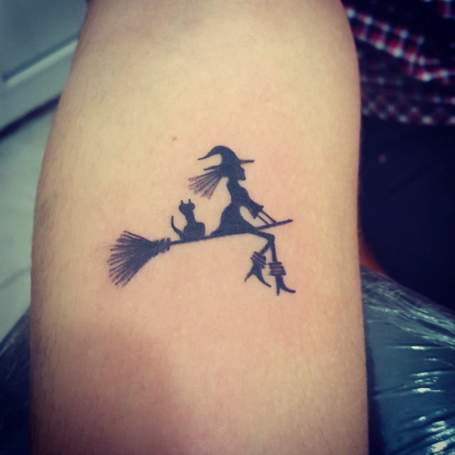 Witch Silhouette Tattoo
