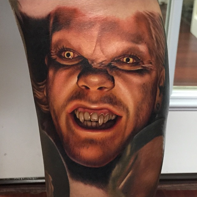 Portrait Vampire Tattoo