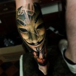 Anonymous Mask Tattoo