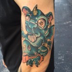 Chubby Sad Imp Tattoo