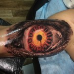 Clock Face Eye Tattoo