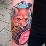 Cute Fox Tattoo