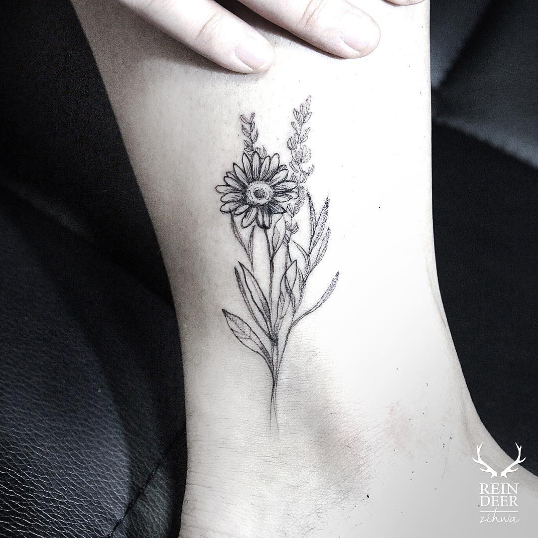 White Daisy Tattoo: Best Tattoo Ideas Gallery