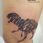 Dinosaur Scribble Tattoo