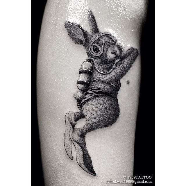 Diving Bunny Tattoo