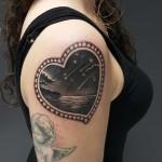 Falling Stars Tattoo on Shoulder