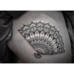 Fan Tattoo Dotwork