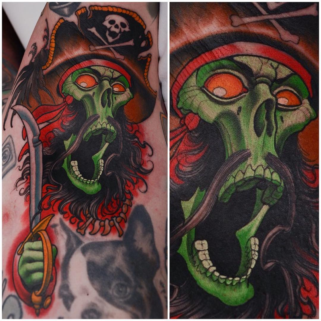 Ghost Pirate Tattoo