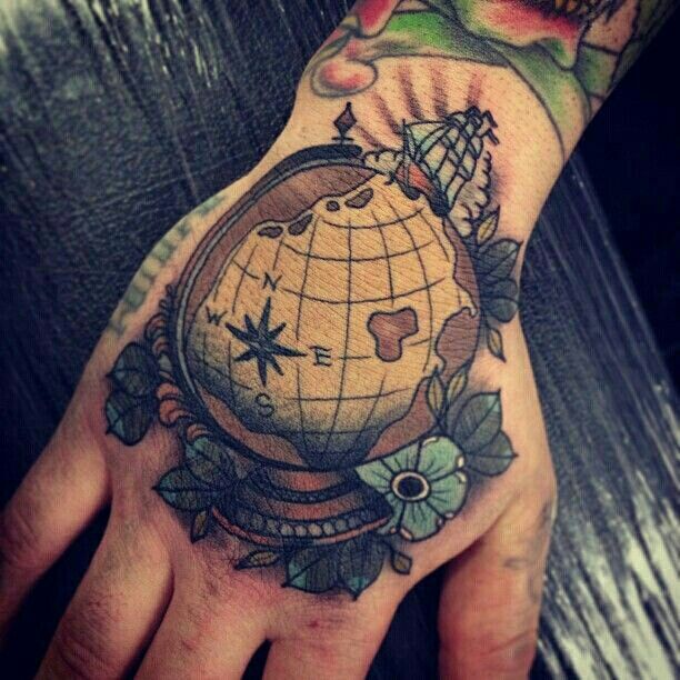 Globe Tattoo Is Not A Simple Map Best Ideas Gallery