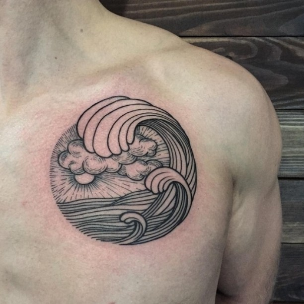 Great Wave Tattoo