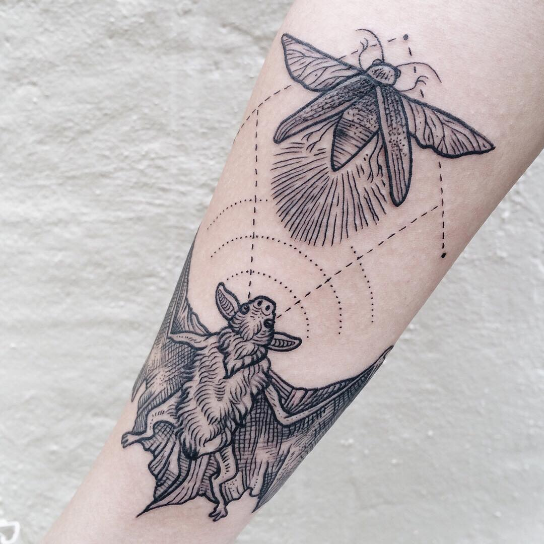 Hunting bat tattoo best tattoo ideas gallery for Tattoos that say something different upside down