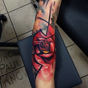 Iron Man Rose Tattoo