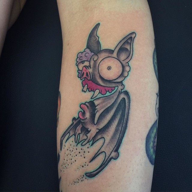 Insane Bat Tattoo on Arm