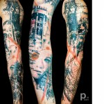 LA Girl Tattoo Sleeve