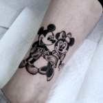 Mickey and Minnie Mouse Tattoo