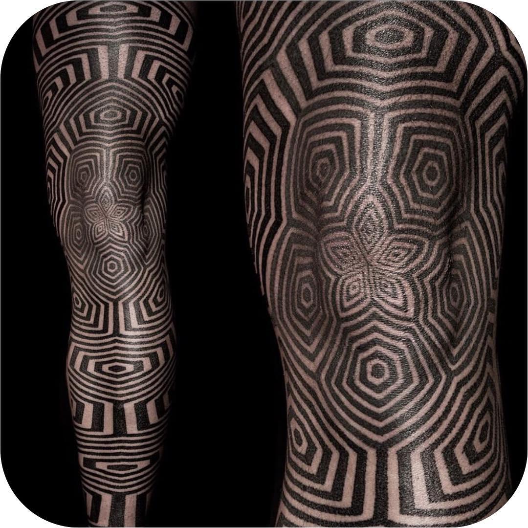 Optical Illusion Tattoo