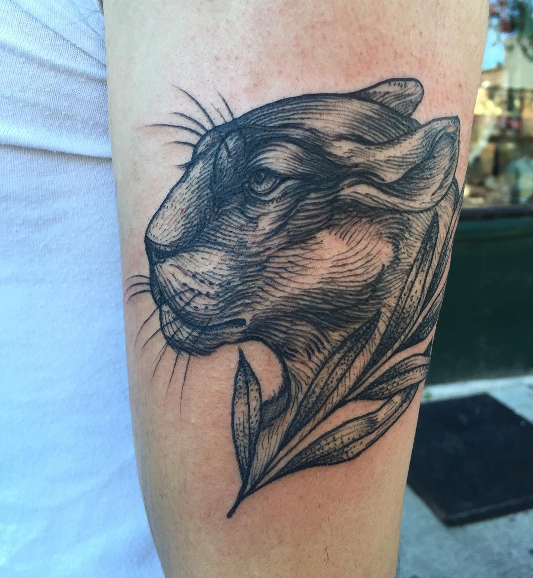 Panther Head Tattoo