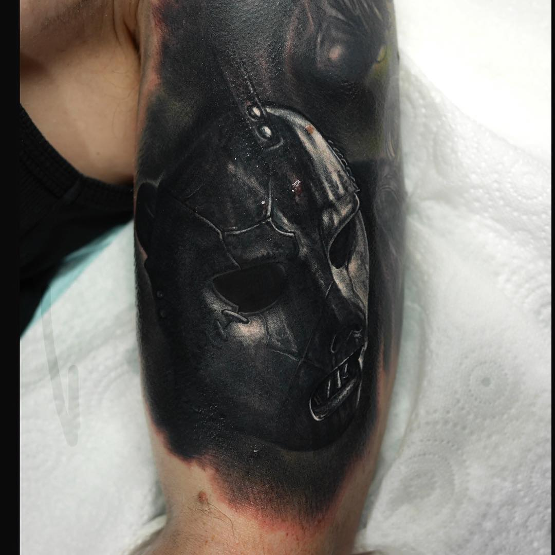 Paul Gray Slipknot Mask Tattoo