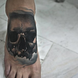 Skull Foot Tattoos