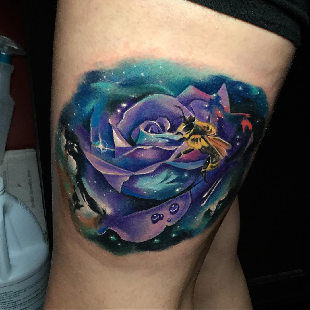 Space Rose With a Bee