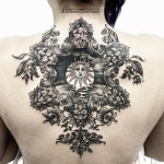 Sun Tattoo on Back
