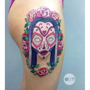 Tattoo Sugar Skull Girl