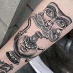 Tea Pot Mask Tattoo