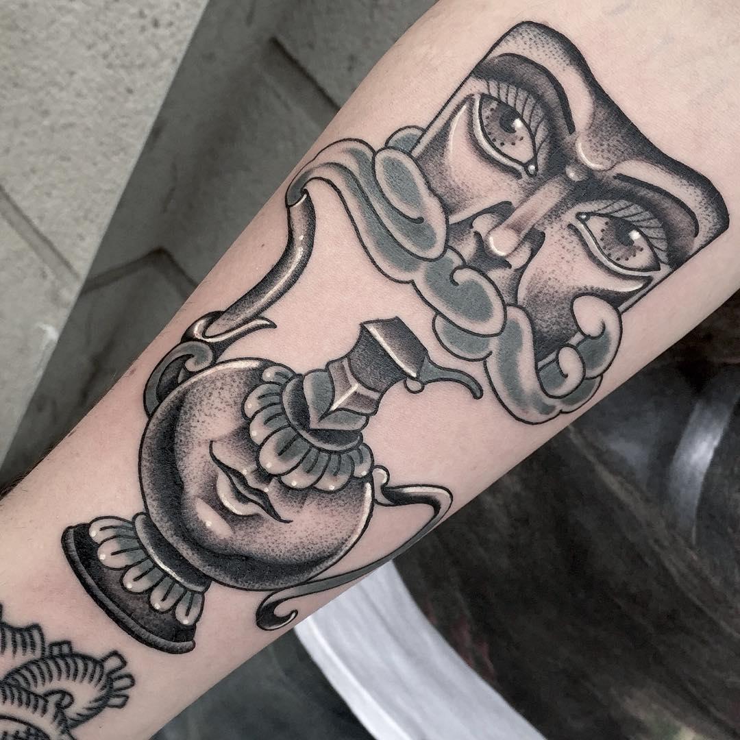 Tea Pot Mask Tattoo
