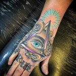 Triangle Eye Tattoo on Hand