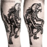 Werewolf X-Ray Tattoo