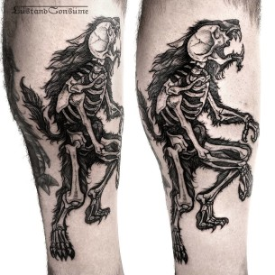 Werewolf X-Ray Tattoo