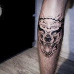 Ghost Wolf Tattoo
