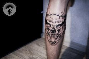 Ghost Wolf Tattoo