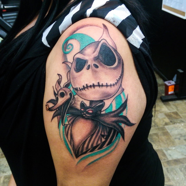 Close-Up Jack Skellington Tattoo
