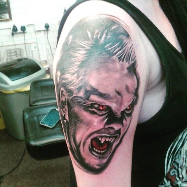 Red Eyes Vampire Tattoo