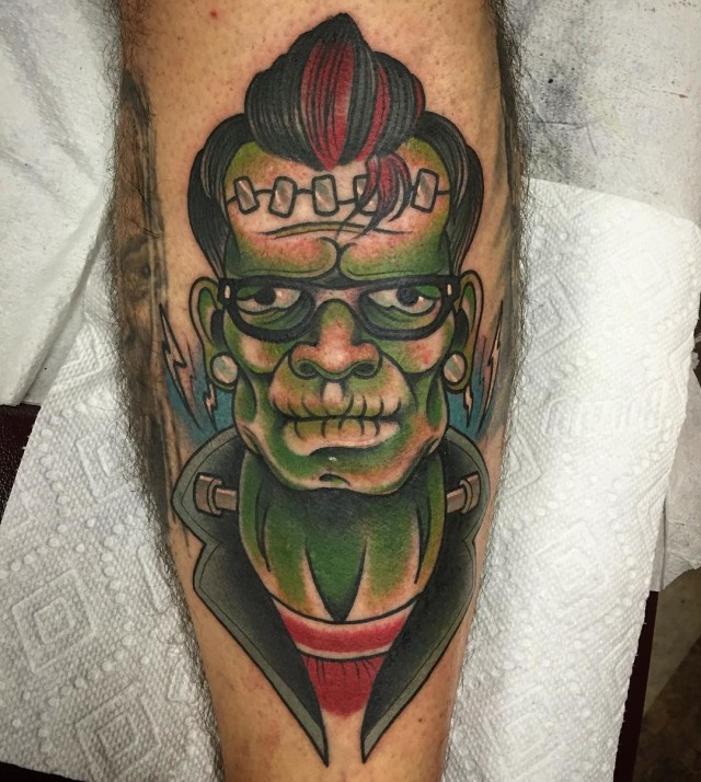 Rock 'n' Roll Frankenstein Tattoo