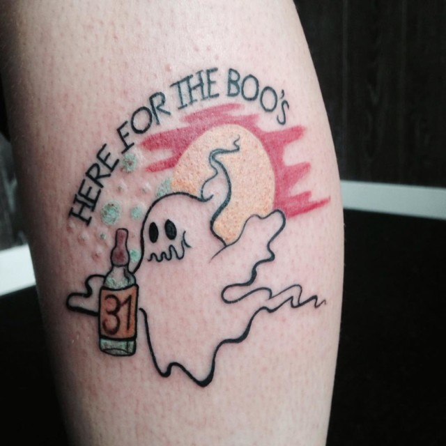Drunk Ghost Tattoo