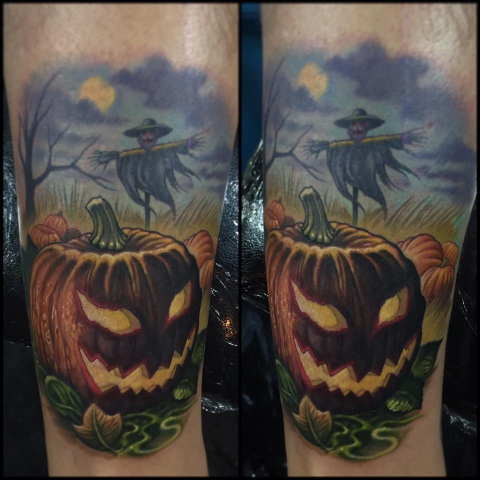 Dark Lantern in Field Tattoo