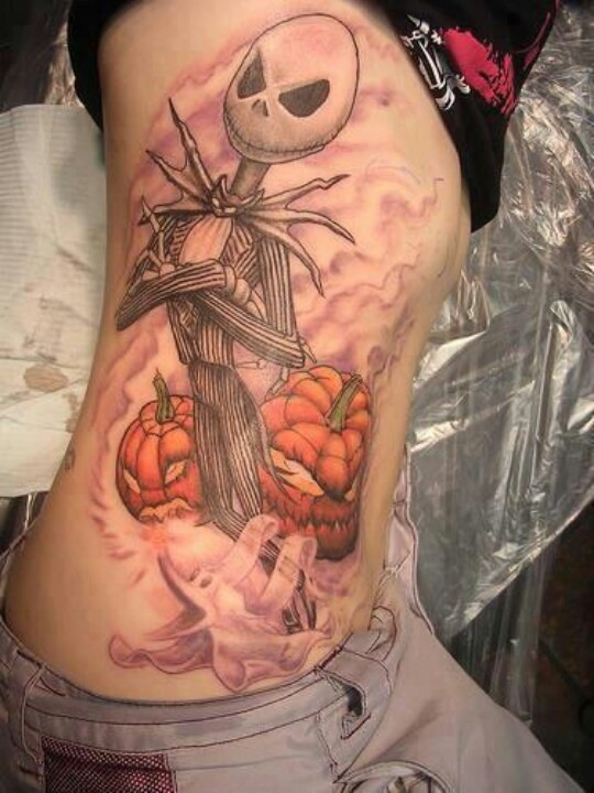 Jack Skellington Body Side Tattoo