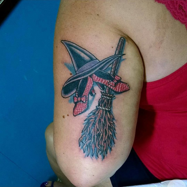 Shoes Hat and Broom Tattoo