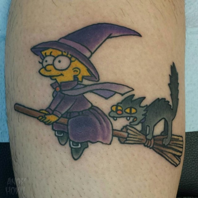 Liza Simpson Tattoo Witch