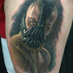 Bane Tattoo Portrait on Shoulder
