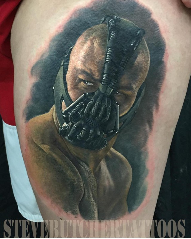 Bane portrait tattoo