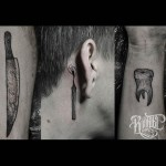 Behind Ear Tattoo