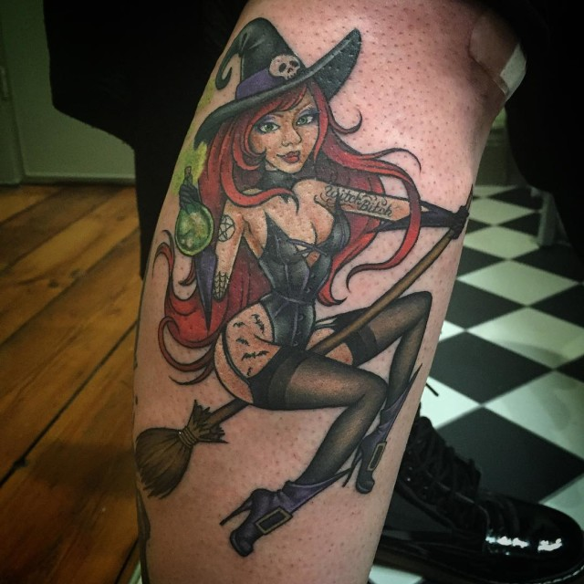Alchemy Witch Tattoo