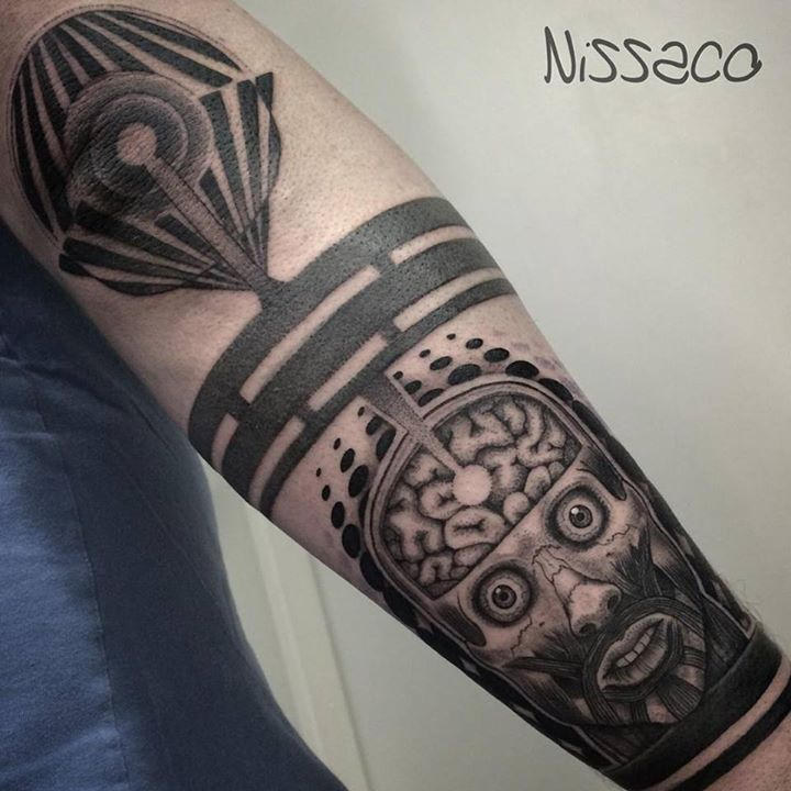 Blackwork Insane Tattoo on Arm