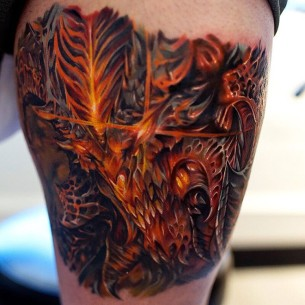 Close-Up Diablo Tattoo