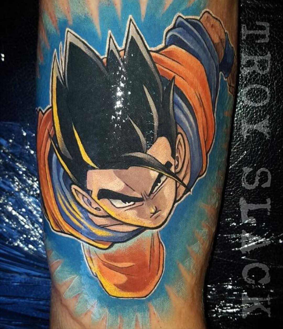 the tattoo of the Dragon Ball Z main character