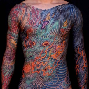 Full Body Dragon Tattoo